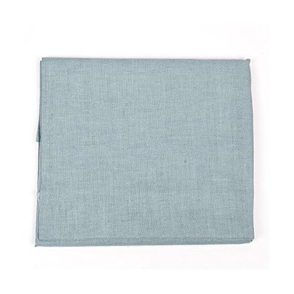 Nappe en lin 135x250 cm bleu lac - lara linenme (photo)