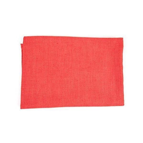 Servi&te de bain 65x130 cm lin orange corail - collection lara - linenme