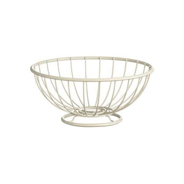 Corbeille à fruits métal revêtu crème - helix - premier housewares (photo)