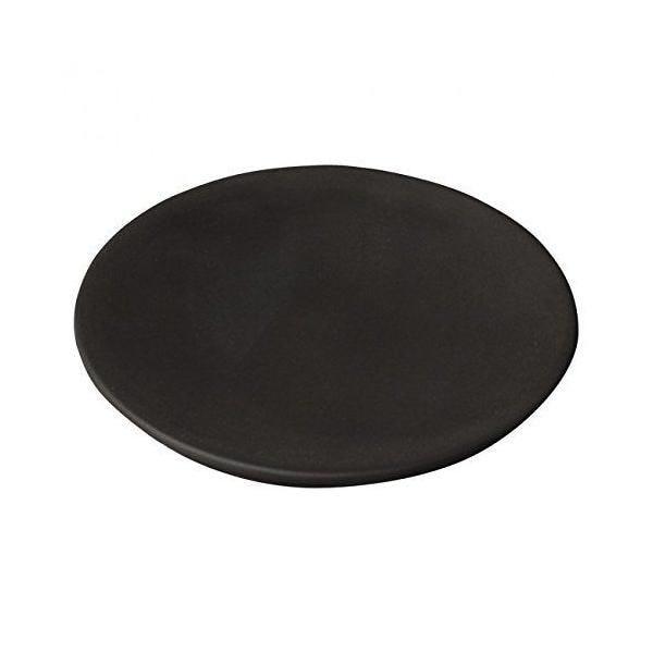 6 assiettes couvercle cocotte noir carb 12,5x12,5x1,10 cm -gourmet- guy degrenne (photo)