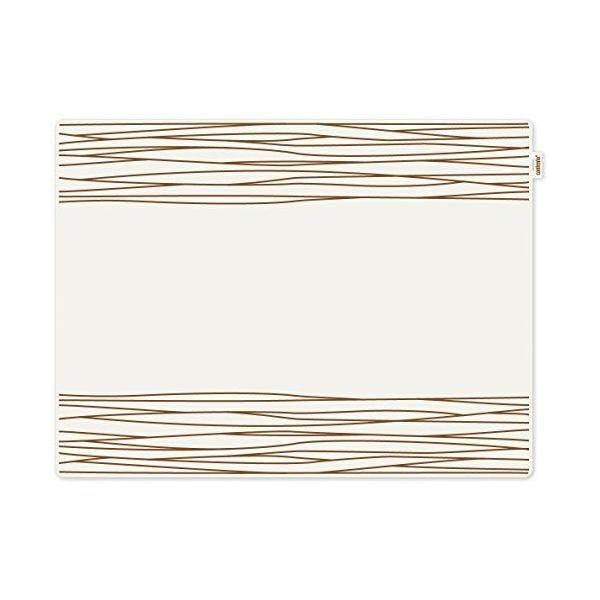 Set de table motif strip plastique marron 40x30x10 cm - jay - contento (photo)