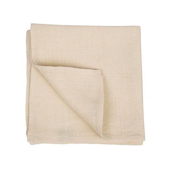Set de 4 serviettes de table en lin 42x42 cm crème - linenme (photo)