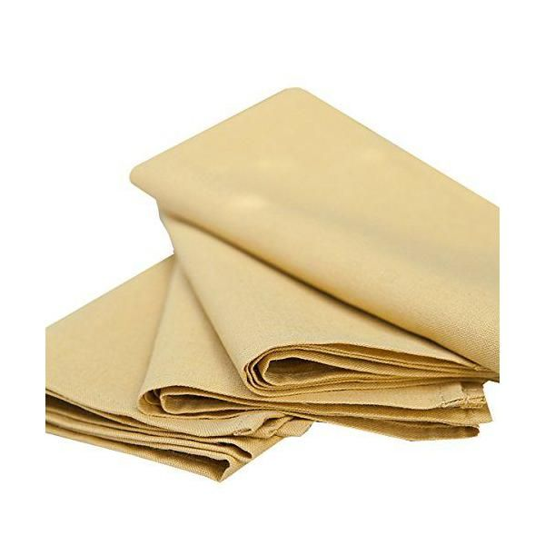 Set de 4 serviettes de table 49x49cm en lin et coton moutarde - paula- linenme (photo)