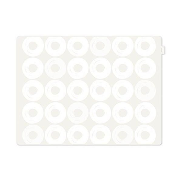 Set de table motif anneaux plastique blanc 40x30x10 cm - jay - contento (photo)