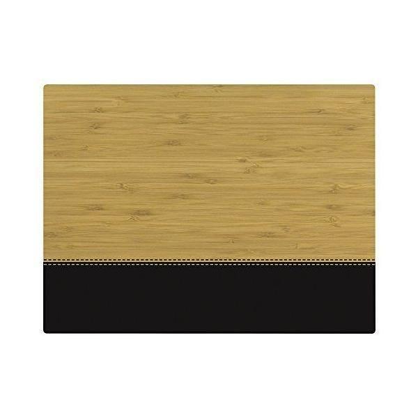 Set de table motif fleur bambou noir 40x30x10 cm - tabeo - contento (photo)