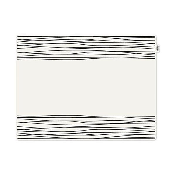Set de table motif strip plastique noir 40x30x10 cm - jay - contento (photo)