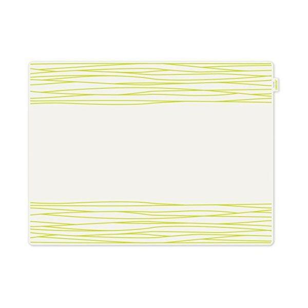 Set de table motif strip plastique vert 40x30x10 cm - jay - contento (photo)