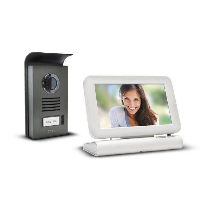Interphone vidéo couleur sans fil tactile 7 pouces + carte sd 4go- lesli - extel (photo)