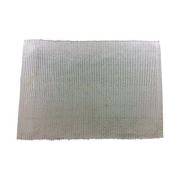 2 set de table coton/polyester blanc/argent 45x30x0,5 cm-comptoir du linge (photo)