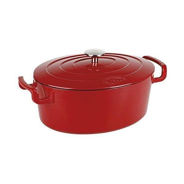 Cocotte ovale fonte rouge/noir 6,5 l - sitram