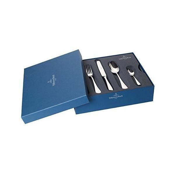 Ménagère 24 pièces en acier inoxydable 18/10 coupole argentée - villeroy & boch (photo)