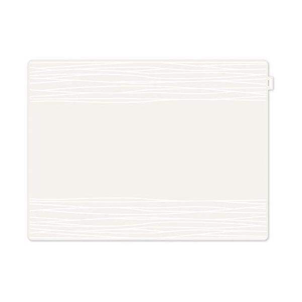 Set de table motif strip plastique blanc 40x30x10 cm - jay - contento (photo)
