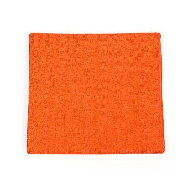 Nappe en lin 135x320 cm tangerine - lara - linenme (photo)