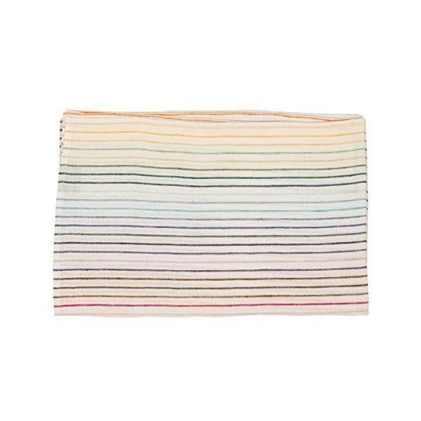 Chemin de table en lin motif arc en ciel 45x140 cm multicolore - linenme (photo)