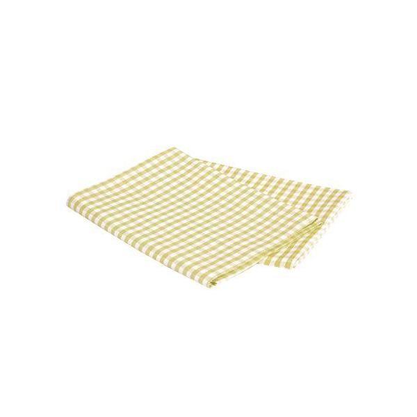 Lot de 2 torchons rayés à carreaux à 47x70 cm, vert/blanc - vaitkute (photo)