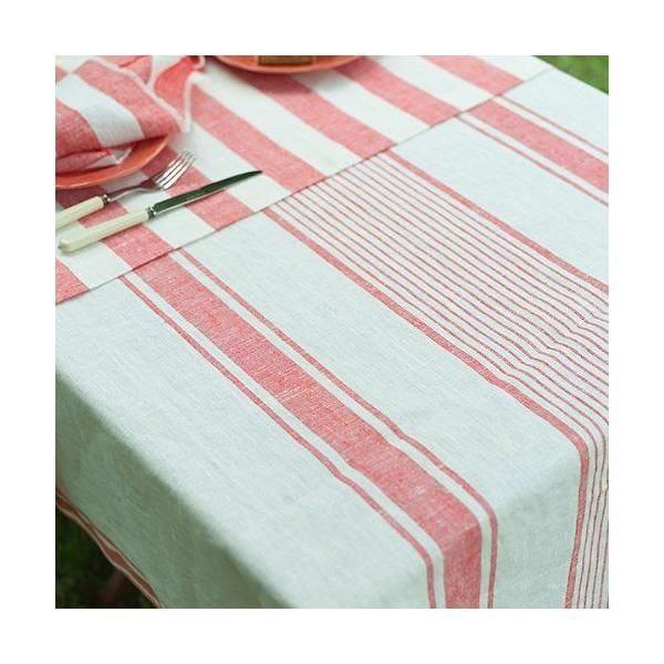 Nappe 132x140 cm en lin rouge - tuscany - linenme (photo)