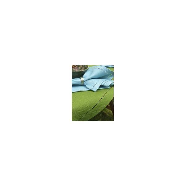 Chemin de table en lin 40x200 cm vert - emilia - linenme (photo)