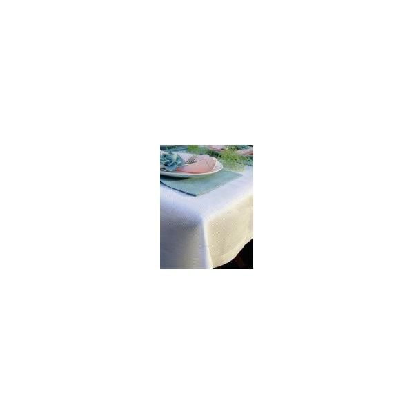 Nappe 140x320 cm blanche - emilia - linenme (photo)