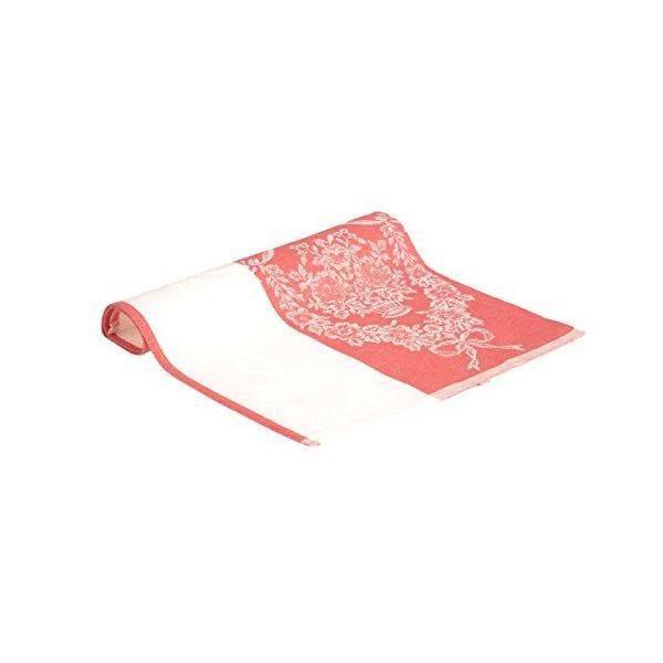Lot de 2 torchons avec motifs fleuris rouge 47x70 cm - vaitkute (photo)