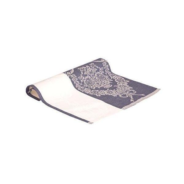 Lot de 2 torchons avec motifs fleuris bleu 47x70 cm - vaitkute (photo)