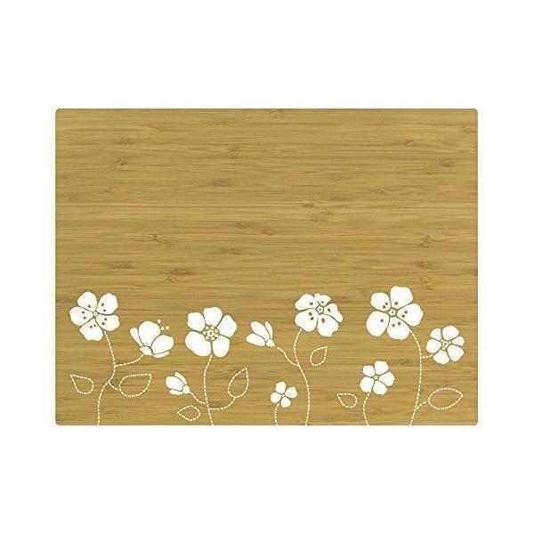 Set de table motif fleur bambou blanc 40x30x10 cm - tabeo - contento
