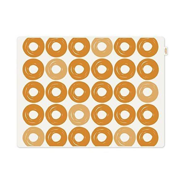 Set de table motif anneaux plastique orange 40x30x10 cm - jay - contento (photo)