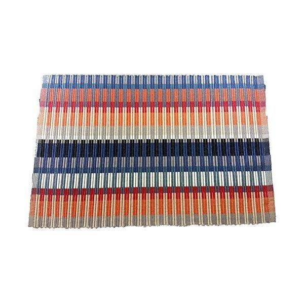 Lot de 2 set de table coton/polyester bleu ciel 45x30x0,5 cm - comptoir du linge (photo)