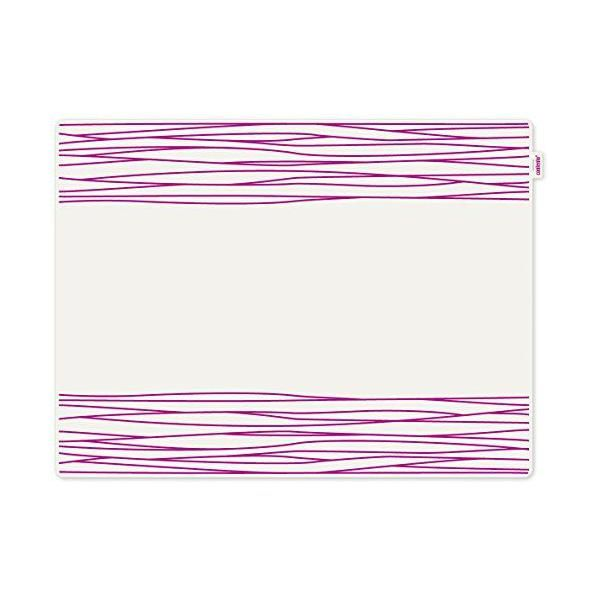Set de table motif strip plastique rose 40x30x10 cm - jay - contento (photo)