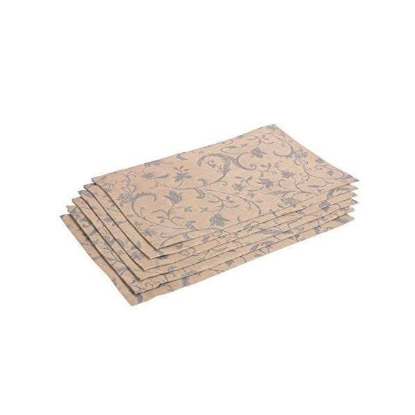 6 serviettes de table bleu/beige 38x50 cm - minija jacquard - vaitkute (photo)