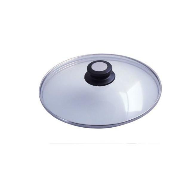 Couvercle verre anse bakélite / inox diamètre:: 20 cm - de buyer