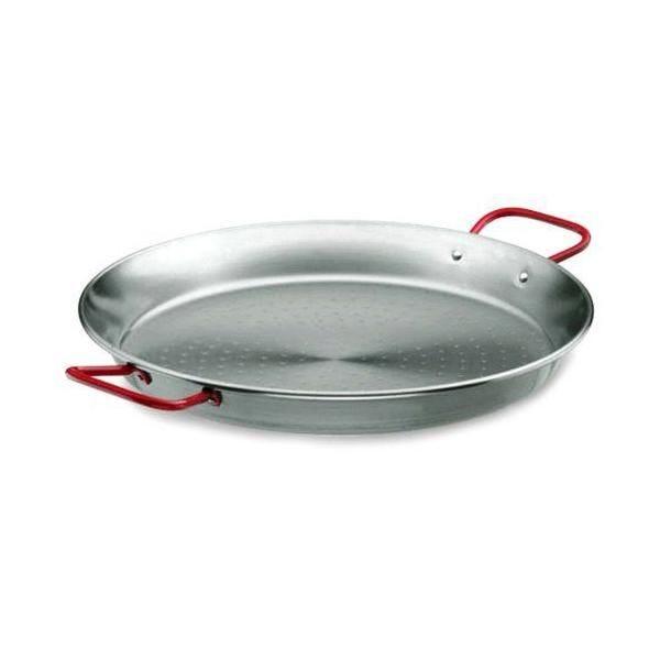 Plat à paëlla en tôle acier - diamètre: 90 cm - lacor (photo)