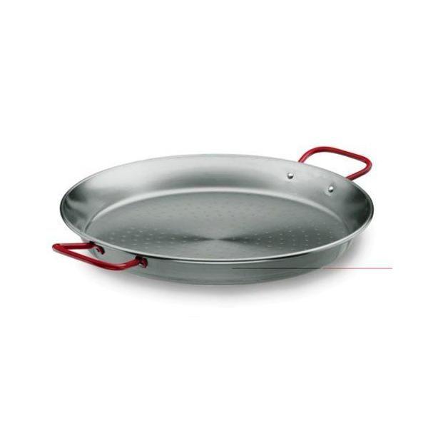 Plat à paëlla en tôle acier - diamètre: 65 cm - lacor (photo)