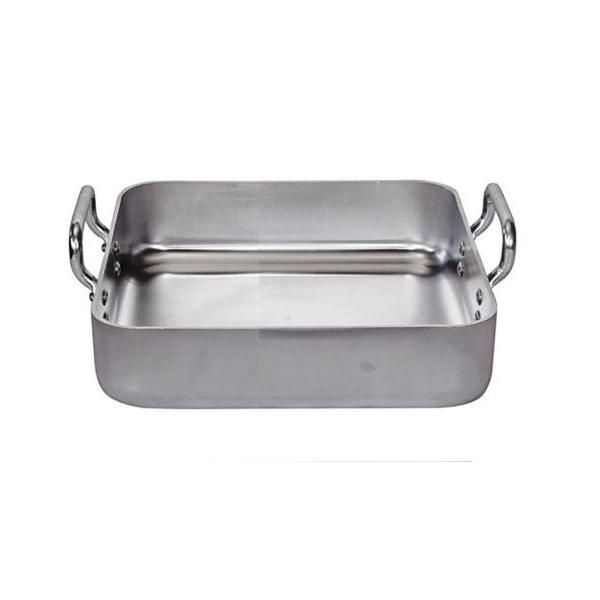 Plat à rôtir rectangulaire aluminium 2 anses fixes 30x30 cm - de buyer