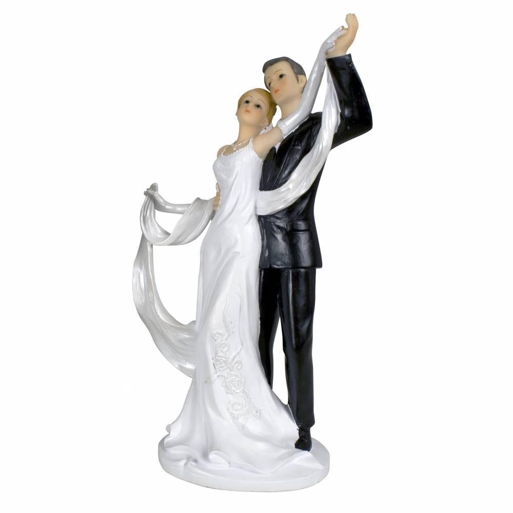 Couple de mariés gm 23,5 x 12,5 x 8 cm - par 6 lots