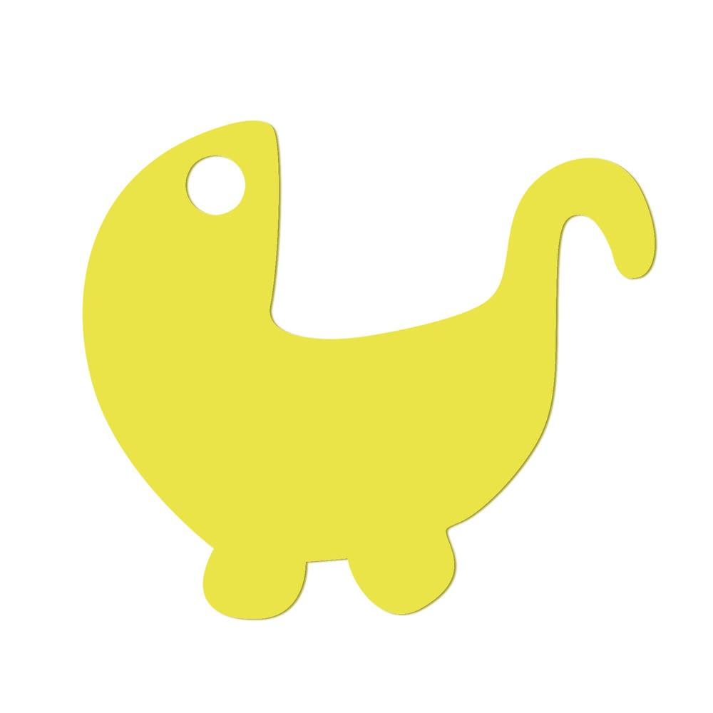 Etiquettes poussette jaune 5 x 4.3 cm - par 24 lots de 50