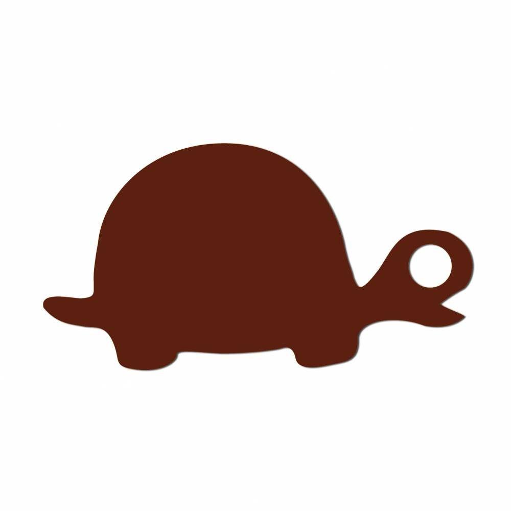Etiquettes tortue chocolat 5 x 2.7 cm - par 24 lots de 50
