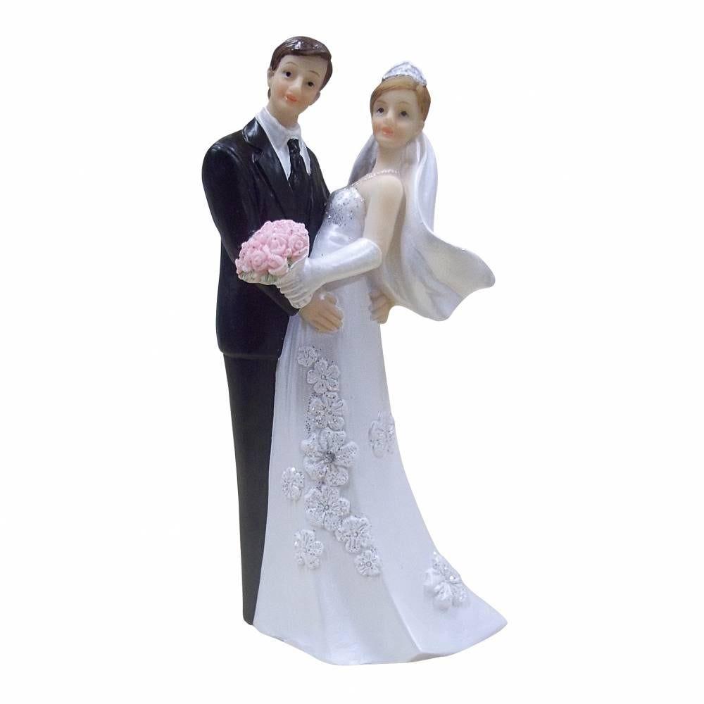 Couple de maries regardez-nous! 12 x 5 x 4 cm - par 6 lots de 1