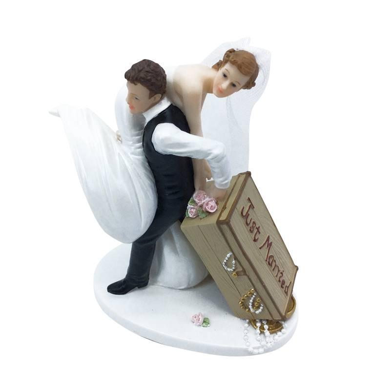 Couple de maries je t'emmene avec moi 13,6 x 11,8 x 6,6 cm - par 6 lots de 1