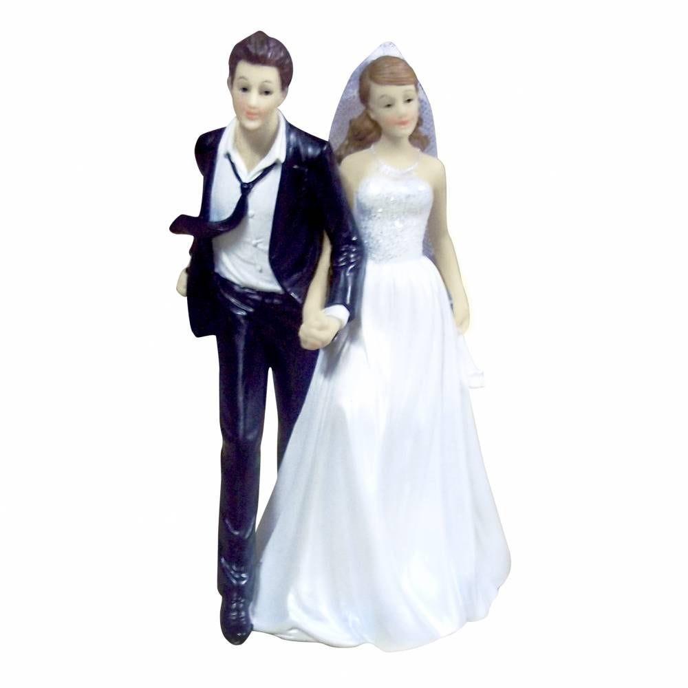 Couple de maries  cravate au vent 15,2 x 9,3 x 8,5 cm - par 6 lots de 1