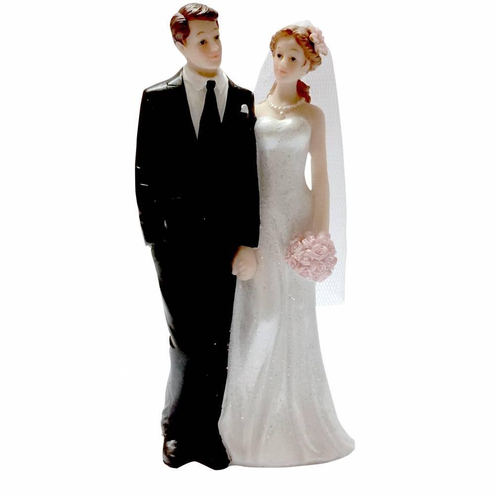 Couple de maries je ne te lache pas la main 15,8 x 8,2 x 5,6 cm - par 6 lots de