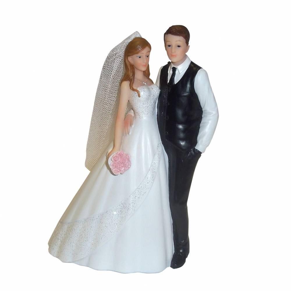 Couple de maries je te tiens par la taille 17,8 x 13,7 x 7,3 cm - par 6 lots de