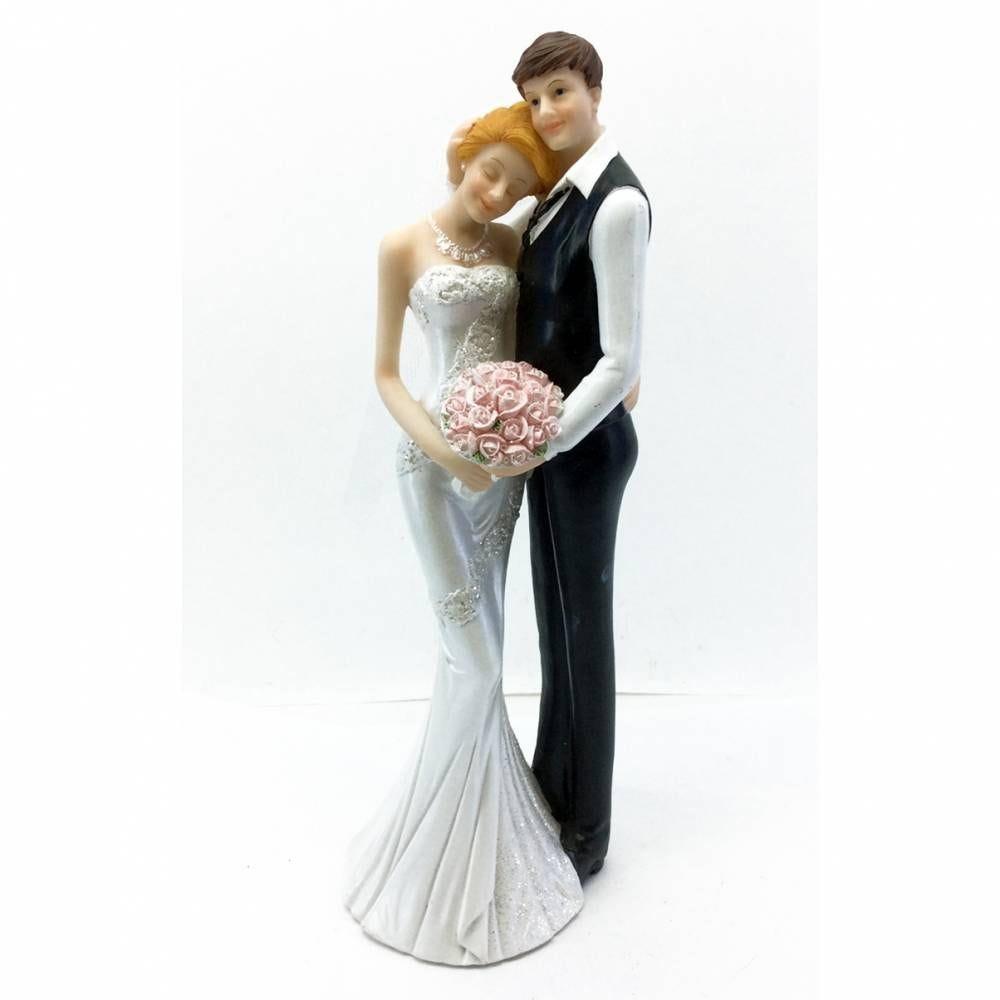 Couple de maries ma tete sur ton epaule 25,5 x 9 x 9 cm - par 6 lots de 1