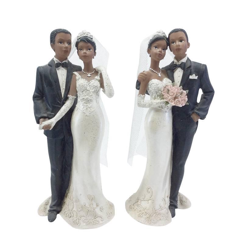 Couple de maries de Couleur 21 x 9,2 x 6,5 cm 2 mod ass - par 6 lots de 1