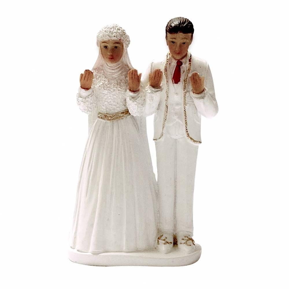Couple de maries oriental 14,5 x 9 x 6 cm - par 6 lots de 1
