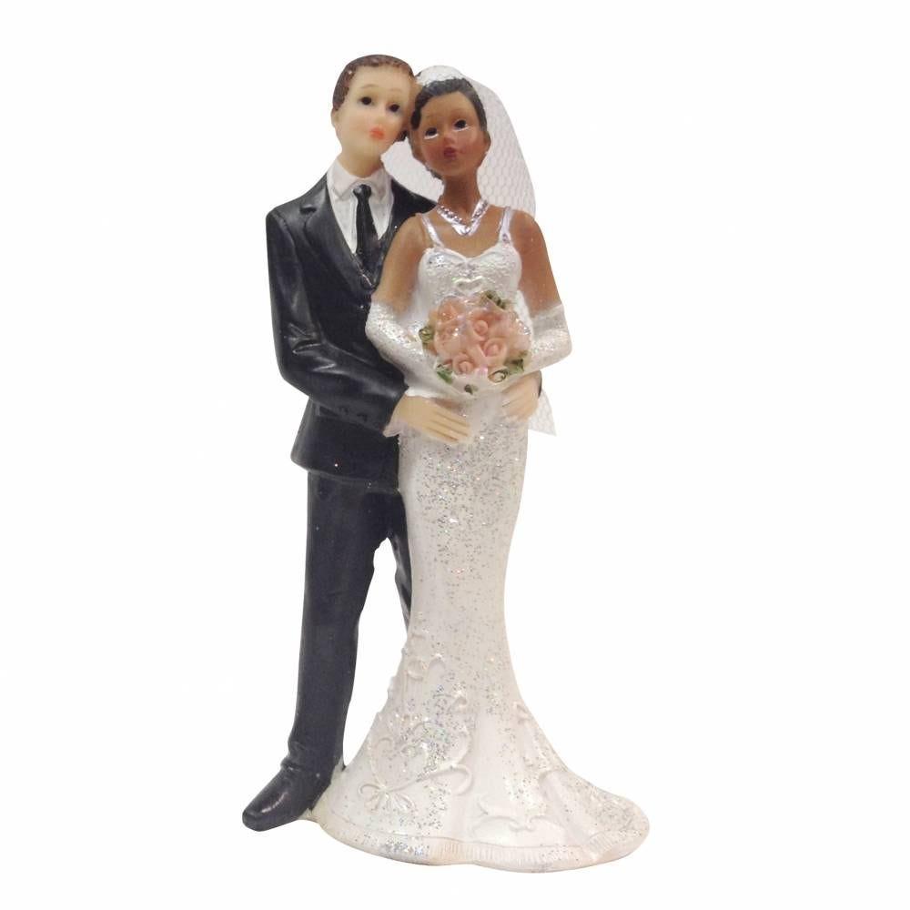 Couple de maries mixte femme de Couleur 12,7 x 6 x 4,5 cm - par 6 lots de 1