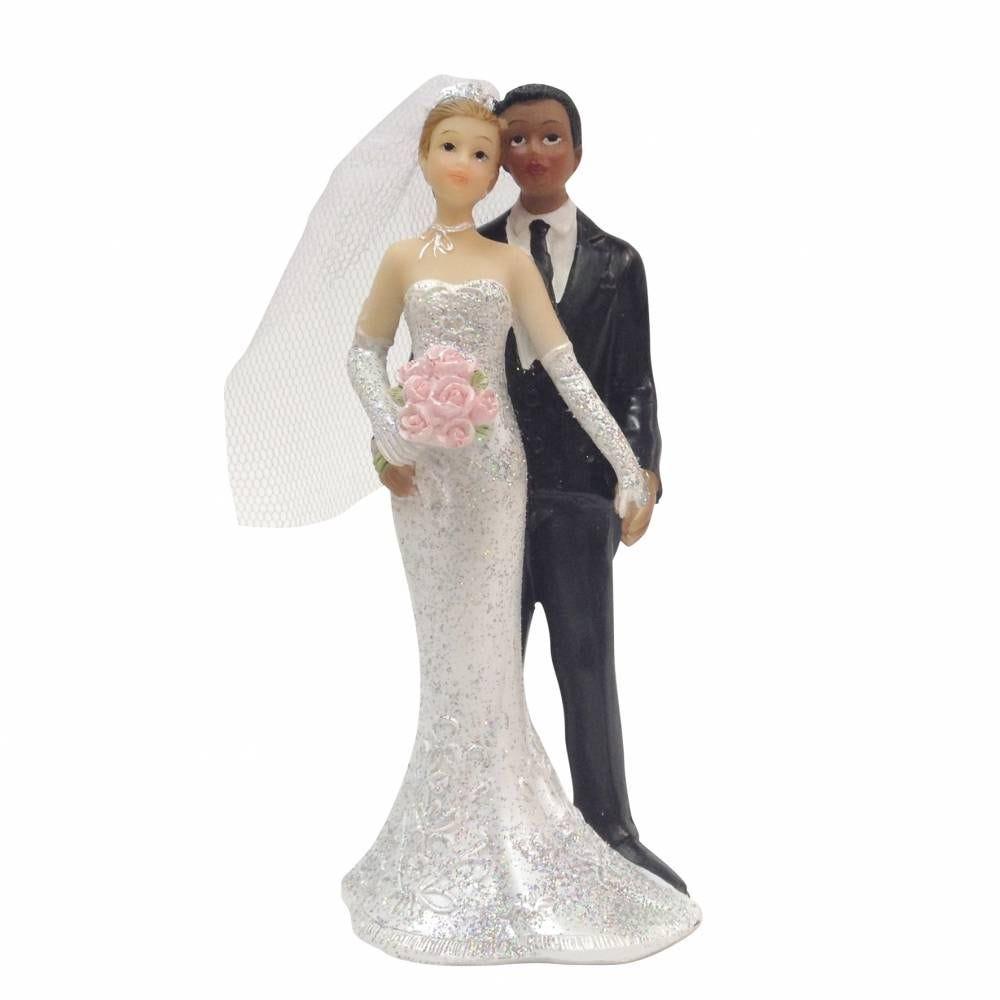 Couple de maries mixte homme de Couleur 12,7 x 6 x 4,5 cm - par 6 lots de 1