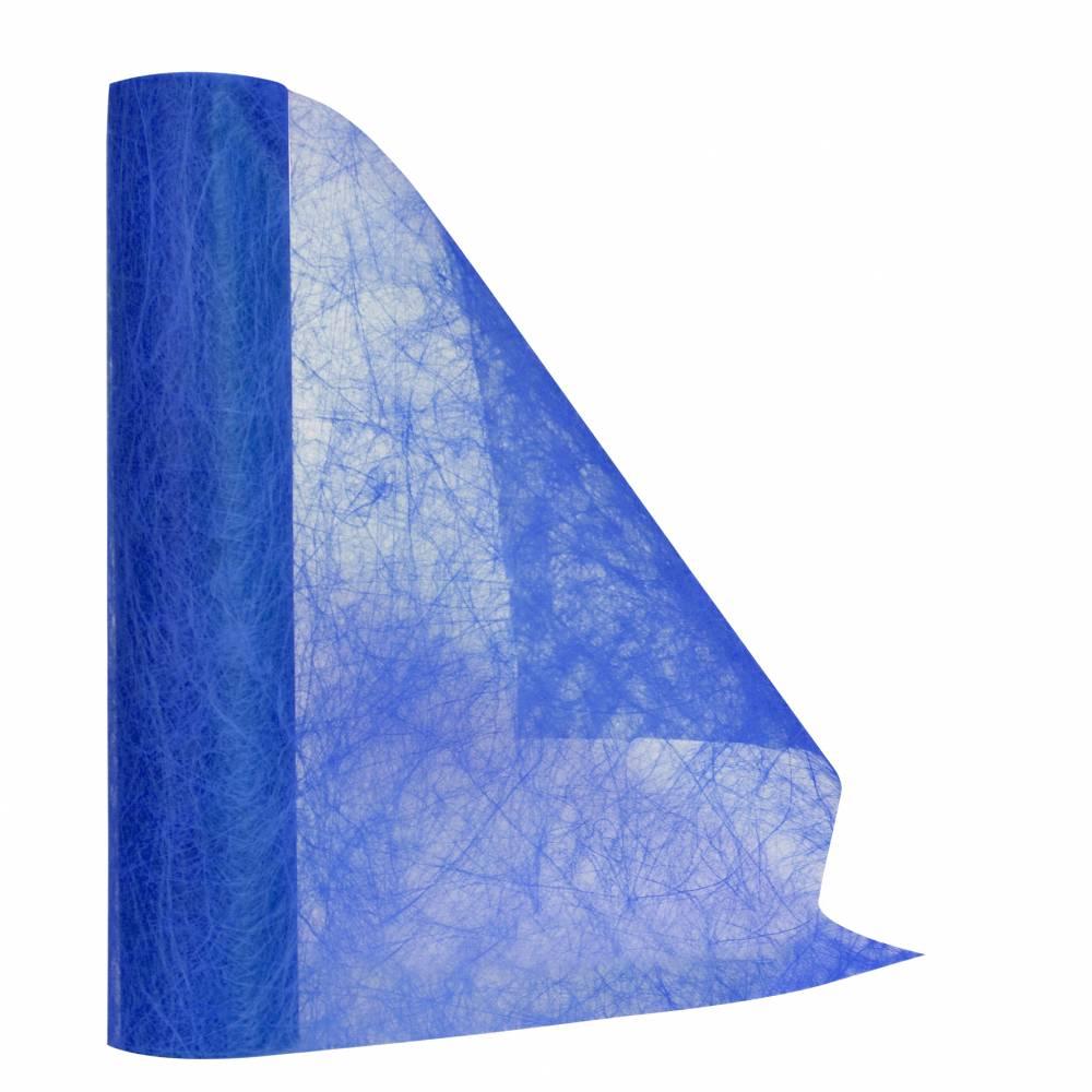 Chemin de table bleu 30 cm x 10 m non-tissé - par 5 lots