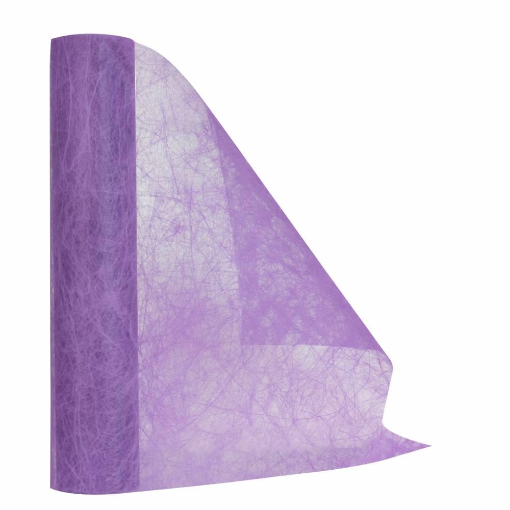 Chemin de table lilas 30 cm x 10 m non-tissé - par 5 lots