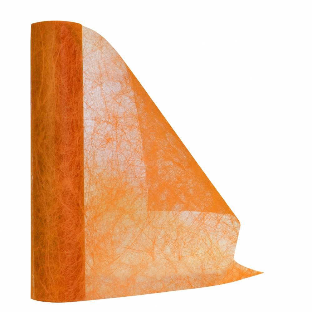 Chemin de table orange 30 cm x 10 m non-tissé - par 5 lots