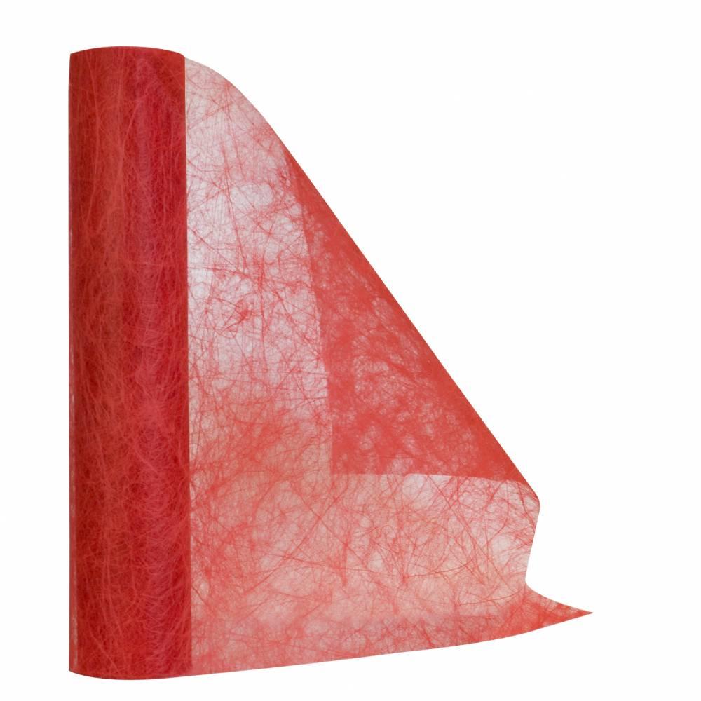 Chemin de table rouge 30 cm x 10 m non-tissé - par 5 lots